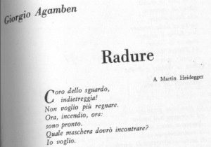 Agamben Radure 1967